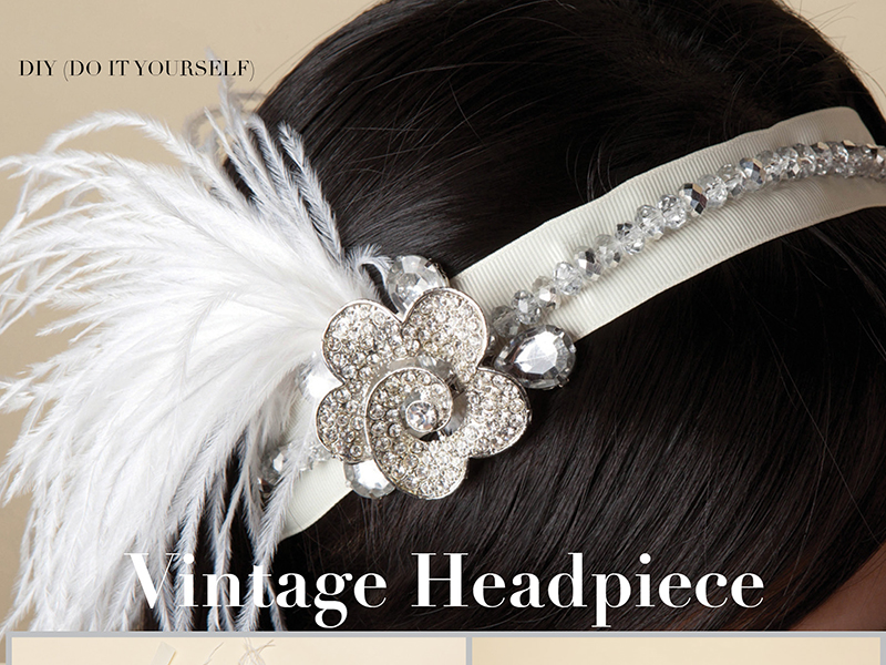 DIY Vintage Headpiece