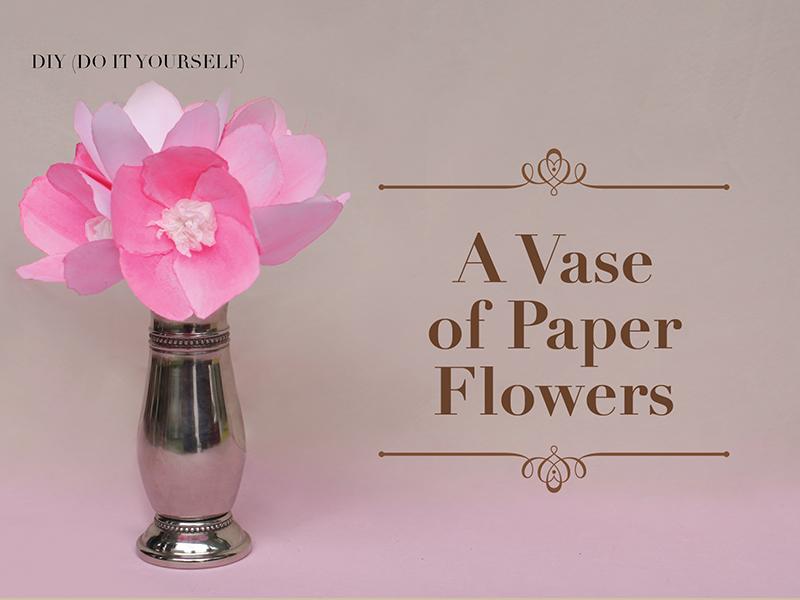 A Vase of Paper Flower