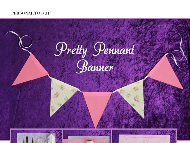 DIY Pretty Pennant Banner