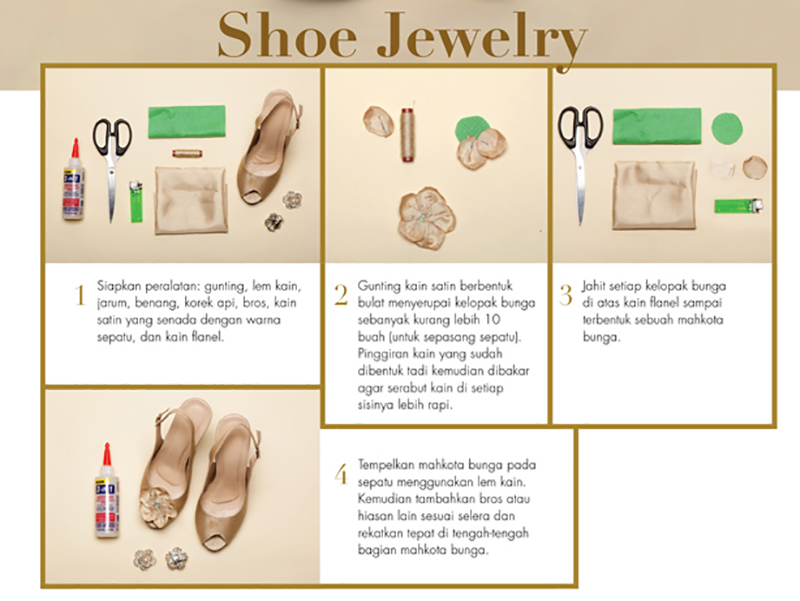 DIY Shoe Jewelry