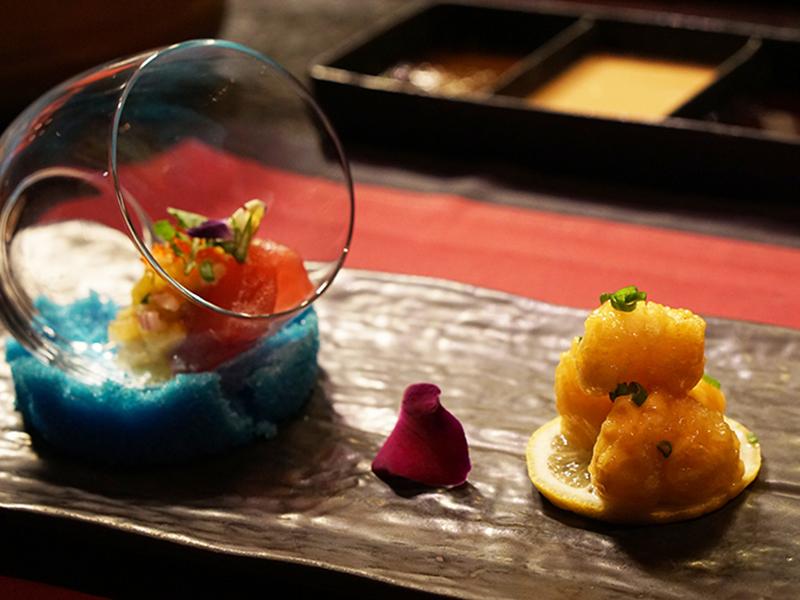 Tuna Karashi Miso & Creamy Spicy Tempura