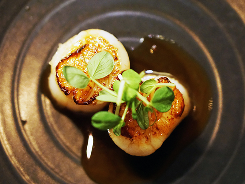 Scallop With Butter And Ponzu Sauce