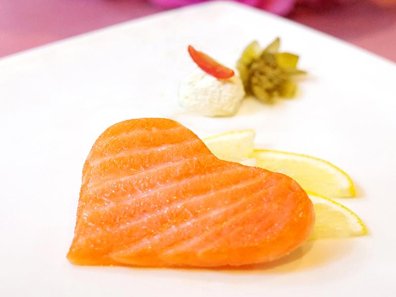 Heart Shaped Smoked Salmon