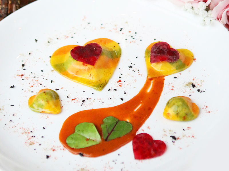 Rosso Valentine Ravioli all Aragosta