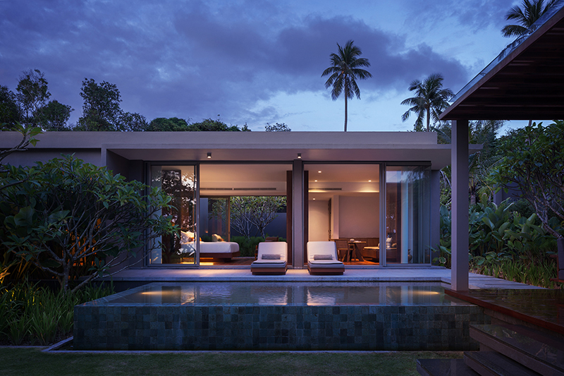 Exterior One Bedroom Villa Sunset