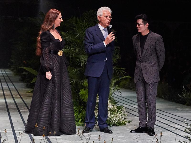 Seabstian Gunawan, Cristina Panarese, dan HE Vittorio Sandalli
