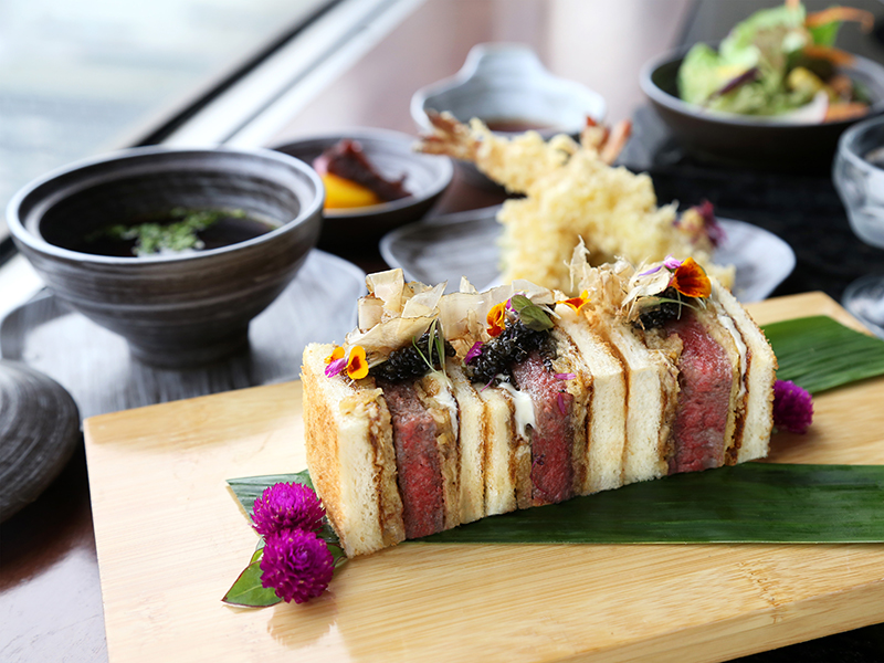 Hundred Dollar Katsu Sandwich at Kahyangan Japanese Premium Restaurant of Pullman Jakarta Indonesia